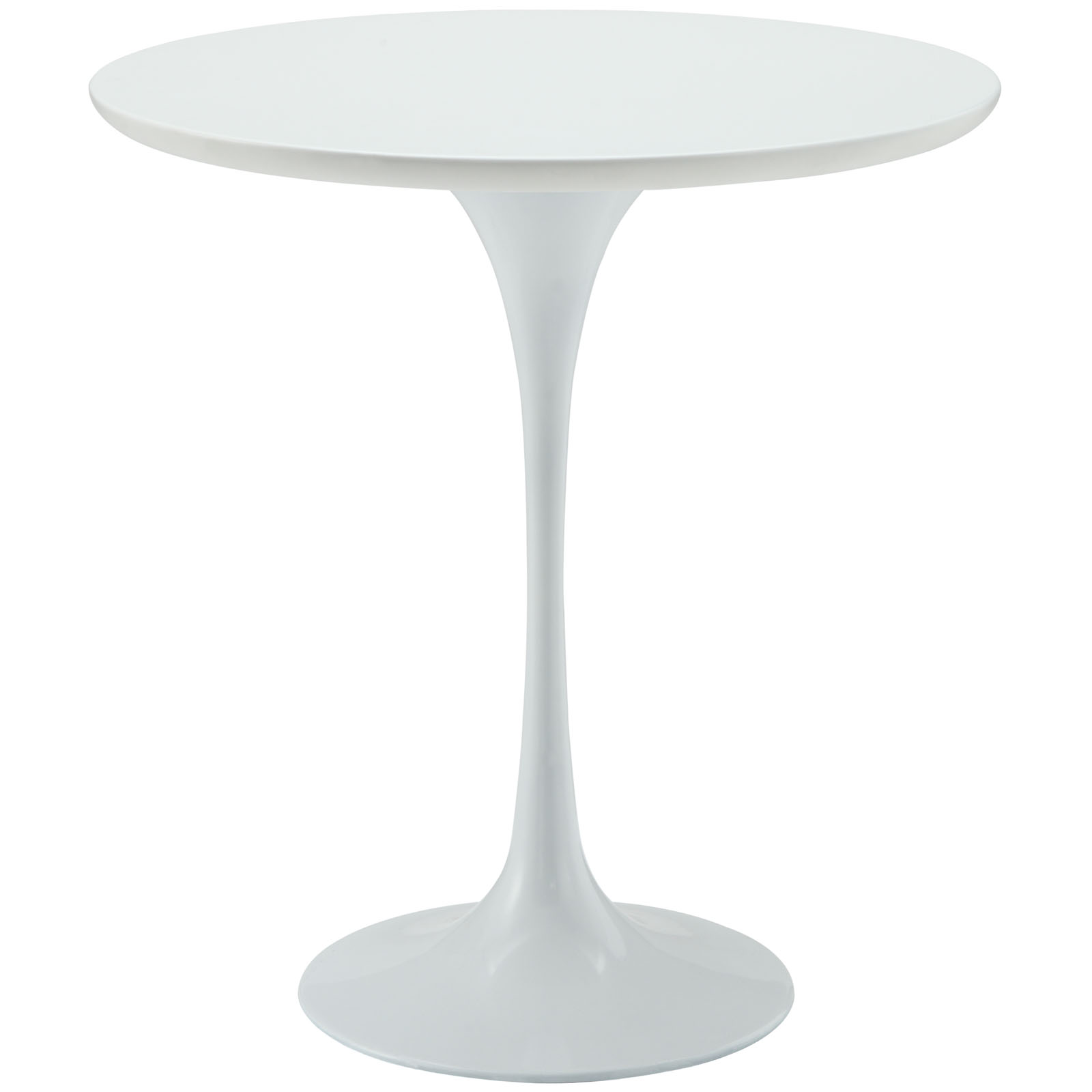 White Side Table : Home / Side Tables / Saarinen Tulip Style Side Table – White Top